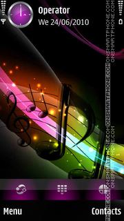 Colorful Music es el tema de pantalla
