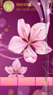 Abstract Flowers tema screenshot