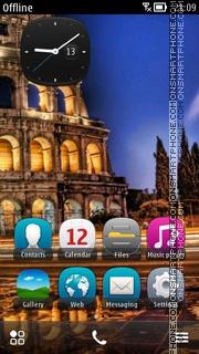 Italy Rome Colosseum es el tema de pantalla