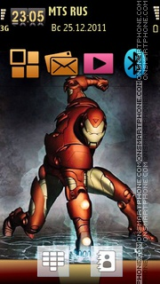 Iron Man 08 theme screenshot