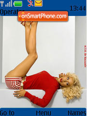 Christina Aguilera 07 theme screenshot