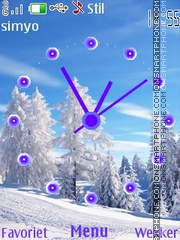 Winter Clock 6500 theme screenshot