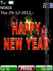 Animated new year 01 theme screenshot