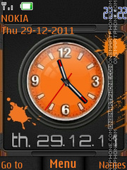 Blots Clock theme screenshot