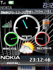 Super Nokia Clocks 01 theme screenshot