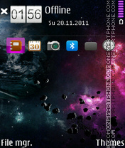 Space 20 theme screenshot
