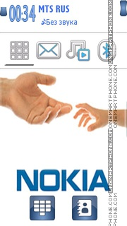 Nokia Hand 01 theme screenshot