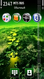 Black Green tema screenshot