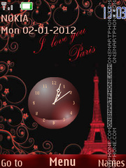 Red Paris theme screenshot