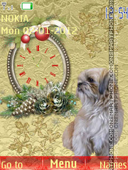 Christmas dog tema screenshot