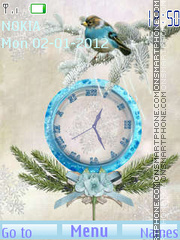 Winter birds tema screenshot