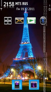 Tour Eiffel 01 tema screenshot