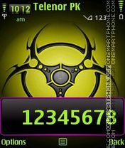 Bio hazard theme screenshot