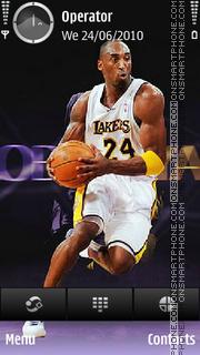 Kobe Bryant theme screenshot