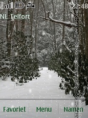 Snow Forest theme screenshot