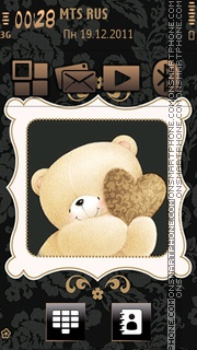 Cute Teddy 05 tema screenshot