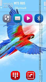 Great blue Parrot v2 theme screenshot