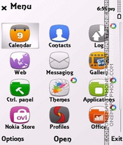 White anna (steel) tema screenshot