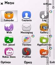 White anna (steel) theme screenshot