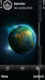 Earth tema screenshot