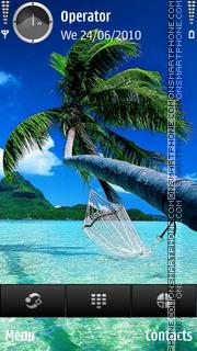 Tropic paradise theme screenshot