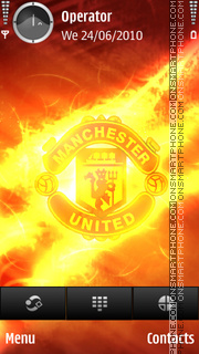 Manchester United Fire lights tema screenshot