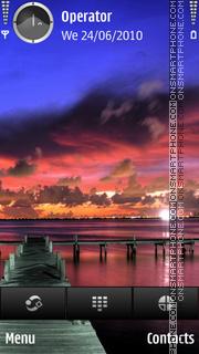 Night sea theme screenshot