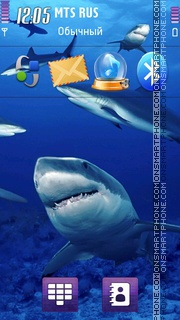 Sharks 02 theme screenshot