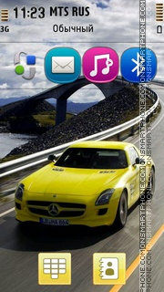 Mercedes Benz SLS AMG E-Cell 01 theme screenshot
