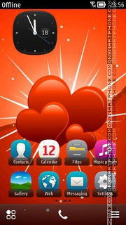 Red Hearts 05 theme screenshot