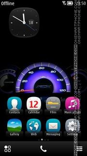 Purple Speedometer 01 theme screenshot