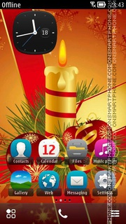 Happy Christmas 05 theme screenshot