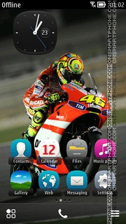 Valentino Rossi 07 theme screenshot