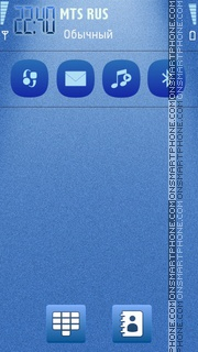 Blue templates tema screenshot