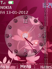 PinkClock-CR2012 theme screenshot