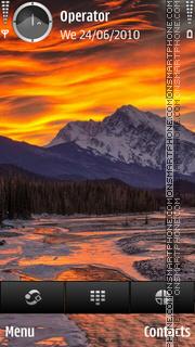 Sunset mountain tema screenshot