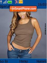 Beyonce Knowles theme screenshot