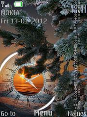 Winter evening theme screenshot