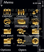 Golden love theme screenshot