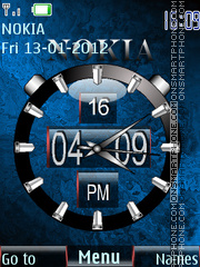 New Nokia Clock Theme-Screenshot
