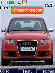 Audi RS4 theme screenshot