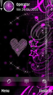 Purple Love theme screenshot