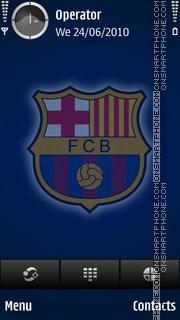 Barcelona blue tema screenshot