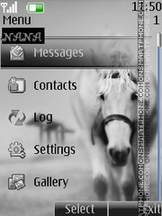 White Horse CLK tema screenshot