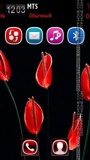 Capture d'écran Red Flower 07 thème