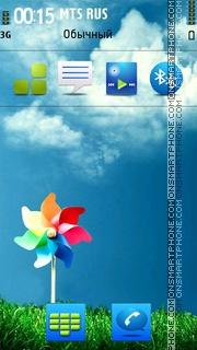 Beauty Sky tema screenshot