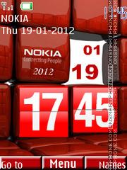Cubes Clock theme screenshot