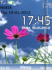 Xperia Flower Clock theme screenshot