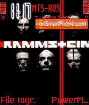 Rammstein 01 theme screenshot
