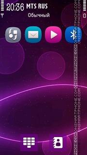 Abstract Purple 5801 tema screenshot